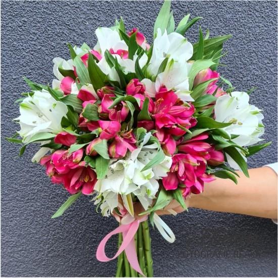 Bouquet 17 wires of alstroemeria