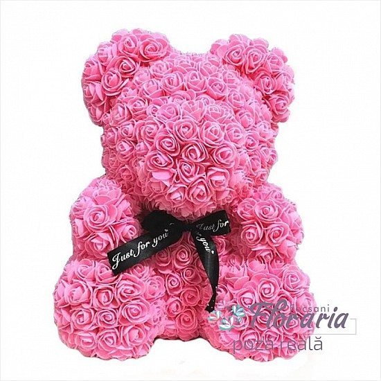 Teddy Bear from Pink Roses 40 cm
