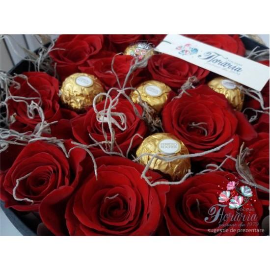BOX ROSES Ferrero Rocher