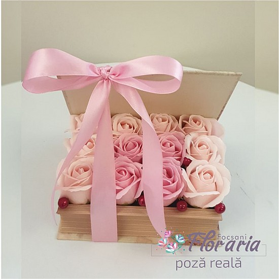 Book Box with Roses Pink Soap
