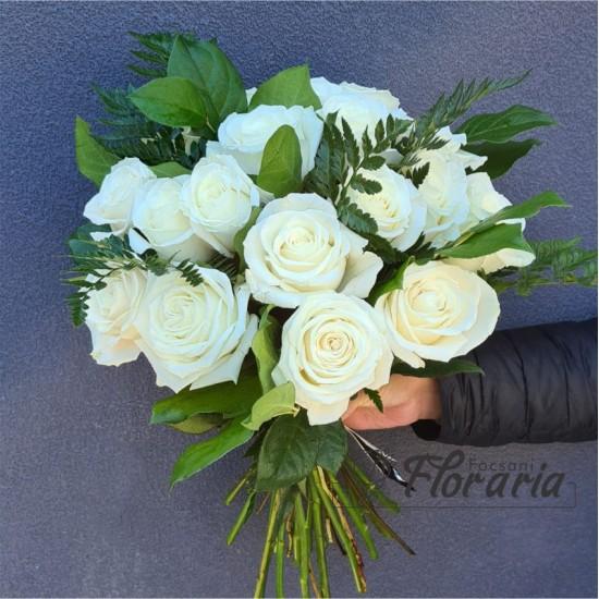 Bouquet 19 Premium White roses