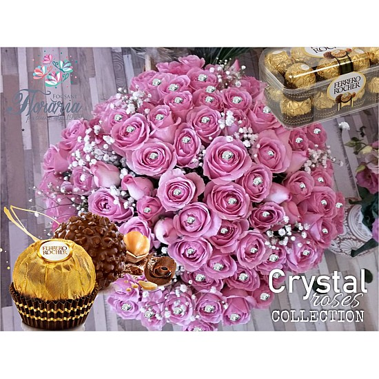 Bouquet 1001 Crystal Roses