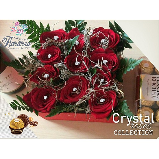 Box W Crystal Roses