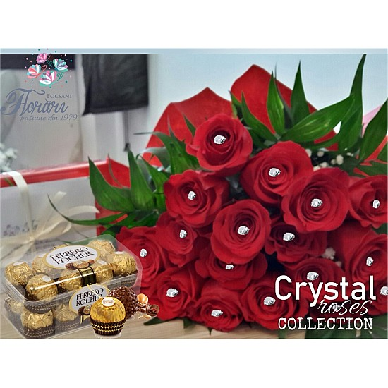 Bouquet Crystal Roses