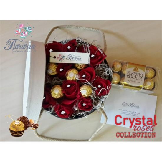 White Box Crystal Roses