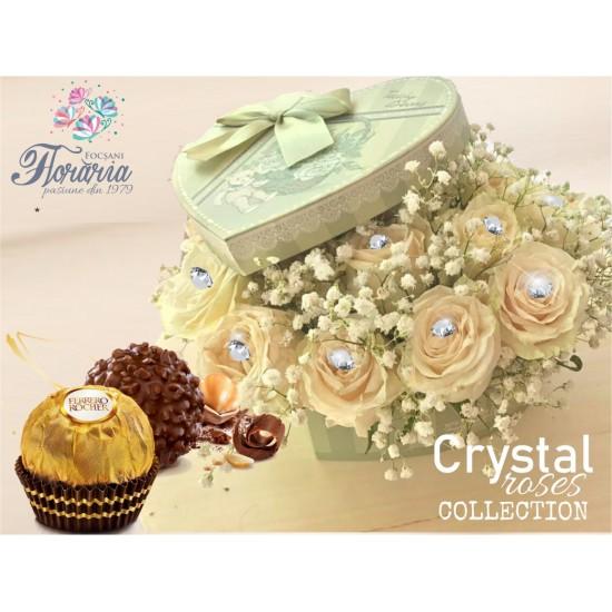 Heart Crystal Roses