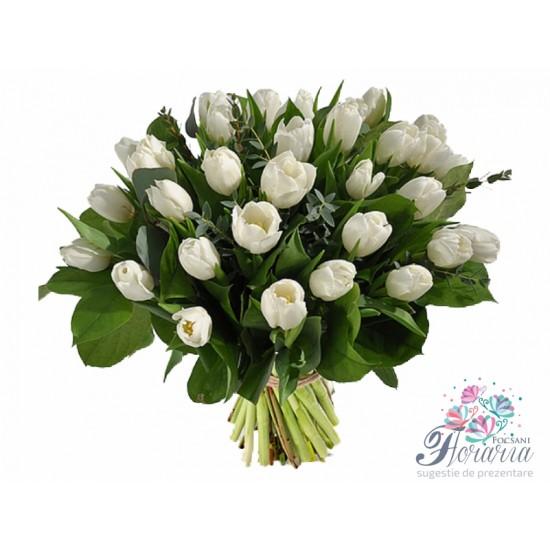 Bouquet 25 White Tulips