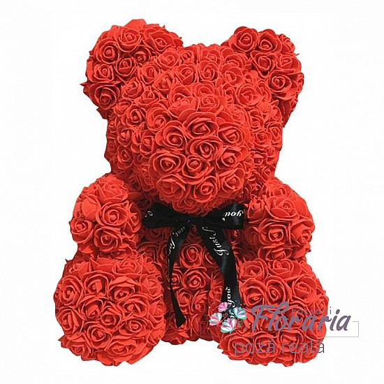 Teddy Bear from Red Roses 35 cm